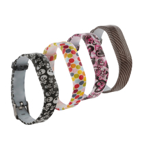(FBFLEXGJHS2)Pack of 4D Bands for Fitbit Flex 2,Classic Silicone Fitness Replacement Accessories Wristband for Fitbit Flex 2