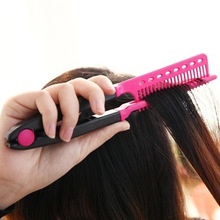 Fashion V Type Hair Straightener Comb DIY Salon Hairdressing Styling Tool Curls Brush Combs