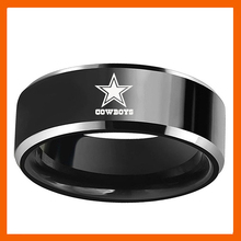 NEW DESIGN GREEN DALLAS COWBOYS FOOTBALL TEAM BLACK BLUE 316L STAINLESS STEEL MEN RING JEWELRY(China)