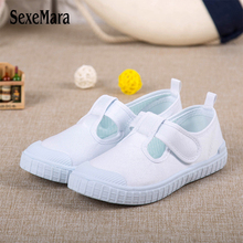 Wholesale Cheep Children's Sheos For Girls Boys Hot Sale White Student Sneakers Anti-kick and Anti-skid Shoes For Kids A0105(China)