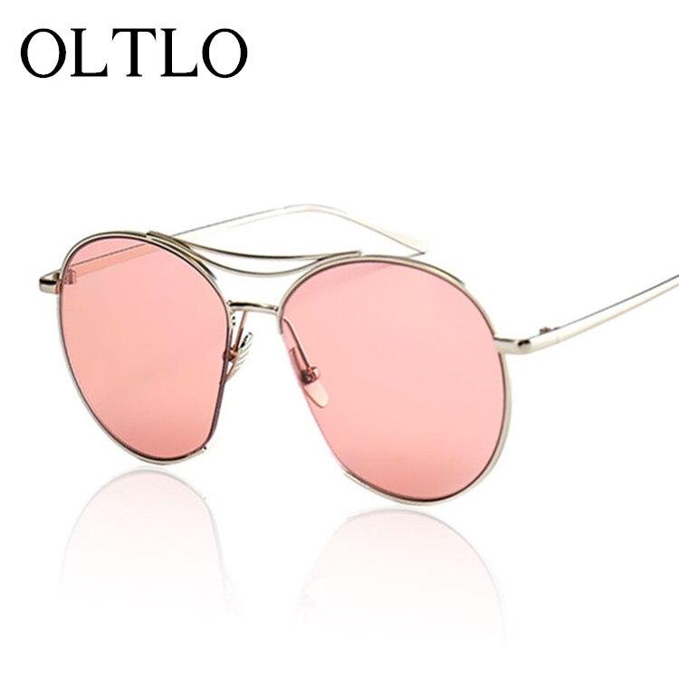 OLTLO New 2017 Brand Designer Oversized Gradient Sunglasses Women Female Stylish Men Shades Lady Sun Glasses Metal Pink Temple<br><br>Aliexpress
