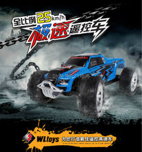 15cm WLtoys A999 2.4G Remote Control 25km/h High Speed Car For Kids RC Truck Model Super sports Racing Car Boys Girls Toys(China)