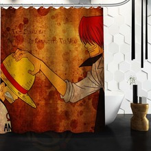 POOKOO!! One Piece Japanese Anime Cartoon Personalized Custom Shower Curtain Bath Curtain 48x72 60x72 66x72 inch(China)