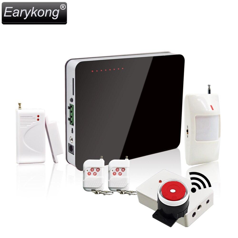 Free Shipping Home Burglar GSM Alarm System Remote Controller Support Intercom Wireless Siren Alarm Detector Sensor Alarm<br>