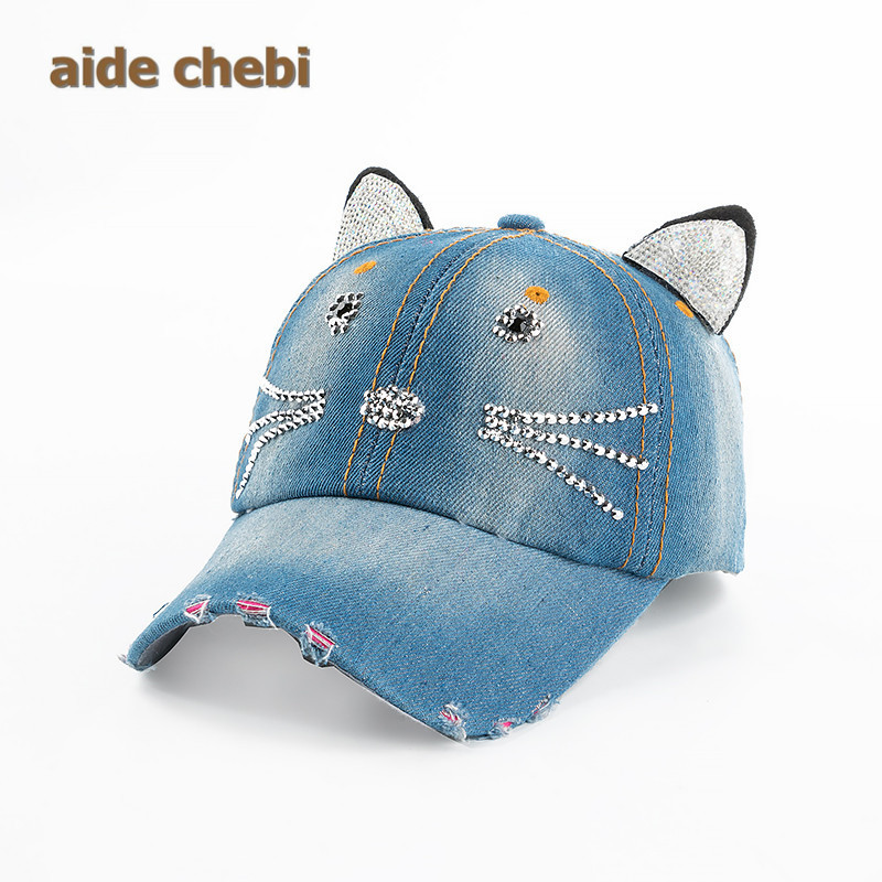 [aide chebi]2017 Fashion Toddler Kids Baby Beret Kitten Visor Baseball Cap Casquette Cotton Peaked Hat casquette dad hat(China (Mainland))