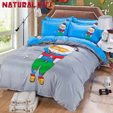 2017 Home Bear cartoon Cotton Queen/full size 4pcs Children Bedroom Bedding sets Duvet cover Quilt Bedding Bed sheet Pillowcase