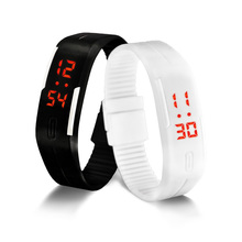 Hot Fashion Men Candy Silicone Strap Touch Screen Square Dial Digital LED Waterproof Sport Wrist Watch Women Kids Watches