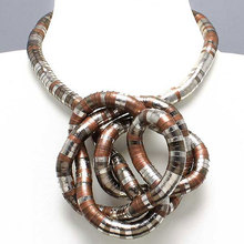 Manufacture 5mm 90cm Silver&Black&Copper Plated Iron Bendable Flexible Bendy Snake Necklace,10pcs/pack(China)