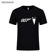 Summer New Brand Quality Movie Film James Bond 007 T Shirts Short Sleeve O Neck Fashion Cotton Male T-shirts Sporting Suits Tops