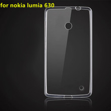 Clear TPU Gel Case for microsoft nokia lumia 630 635 Transparent Silicone Rubber Cover Case for nokia lumia 630 635 Transparent
