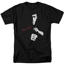 2017New Men's T Shirt Round Neck Best Selling male Natural Cotton Shirt Bruce LEE Signature The Dragon Awaits Legend T-Shirt Tee(China)