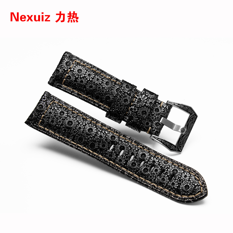 2017 New Arrival Watchbands 24mm Luxurious watch straps high quality  watch bracelet  genuine leather straps  Free shipping<br><br>Aliexpress