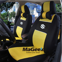 """Generic Car Version"" Seat Cover For SUZUKI Sx4 Liana Swift Jimny With Breathable Material+Airbag Compatible+Logo"