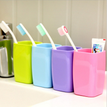 1 Pcs 6.5*6.5*10.5cm Discount Bathroom Sets Tooth Brush Holder Cup Wash Gargle Suit Bathroom Accessories.(China)