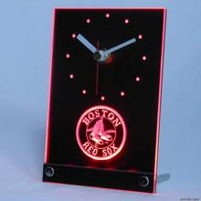 tnc0552 Boston Red Sox Table Desk 3D LED Clock