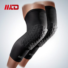 MLD Spandex Breathable Honeycomb Knee Pads Bumper Crashproof Football Basketball Leg Sleeve Sports kneepad Barce Kneelet M/L/XL