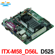 Cheap price industrial embedded MINI ITX motherboard ITX-M58_D56L support D525 1.80GHz dual core CPU with 8*USB/6*COM