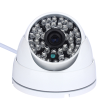 POE 48V Metal Shell Vandal-proof  720P 2.8mm Wide Angle Lens 48 LED IR Dome IP POE Camera Indoor/Outdoor Surveillance Camera