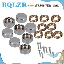 BQLZR 8 x Solid Copper Advertising Screw 12mm Mirror Cap Nail Home Decor Fittings(China)