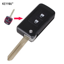 KEYYOU Modified Folding Flip Remote car Key Shell 2 Buttons Keyless Entry Case For For Subaru Outback Legacy With Logo