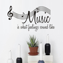 Music Is What Feelings Sound Like Modern Living Room Decoration Vinyl Musical Wall Art Notation Decoration Removable Wholesale