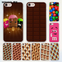 MOUGOL cute Wonka chocolate M'S chocolate design hard clear Case Cover for Apple iPhone 7 6 6s Plus SE 4s 5 5s 5c Phone Case