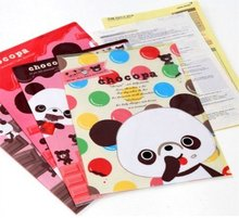 Hot sale .casual style kawaii fashion  sweet panda casual style kawaii fashion gift File folder . A4 documents file bag.for stud