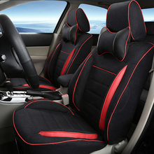Front&Rear Sports Car Seats for MG6 Seat Covers Accessories Set Linen Cover Seats Protector Custom Fitting Black Car Seat Cover(China)