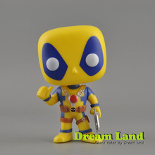 Original Marvel Deadpool Thumb Up 112 Bubble head Figure gun Toys Gift Funko pop Vinyl X Force Blue Yellow