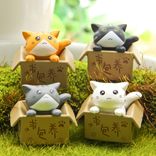 4Pcs/Set Cute 3cm Cat Vinyl Toy Doll Game Figure Statue Baby Toy For Children Kids Gifts Action & Toys 4 Colors Choose ATF15