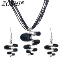 Fashion Jewelry Set Leather Rope Chain Multilayer Statement Necklace Earrings Jewelry Set Factory Wholesale Price Summer Jewelry