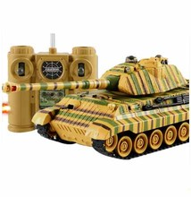 Kingtoy Rc Battle Tank Fun Remote Control  Shooting Tank  large scale Radio Control Army battle Model millitary rc tanks Toy