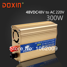 DC 48V to AC 220V 300W Watt W Auto Car Solar Power Inverter Universal Socket 90% Conversion efficiency DOXIN ST-N040