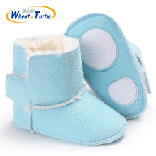 Mother Kids Baby Shoes First walker Unisex Winter Booties Hand-made Anti-silp Prewalker Bowknot Fleece Snow Boots For Baby(China)