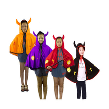 1pc Halloween Cloak Party Carnival Performance Items Kids Pumpkin Ox Horn Costume Festival Cosplay Masquerade Supplies P0.2(China)