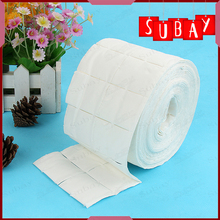 2 Rolls of Lint Free Nail Art Polish Acrylic Gel Remover Wipes / Paper Towel 500pcs Cleaning Cotton Pads
