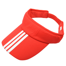 LICG Hot Sports Tennis Golf Sun Visor Hat Hats Adjustable Plain Bright Color Men Women red(China)
