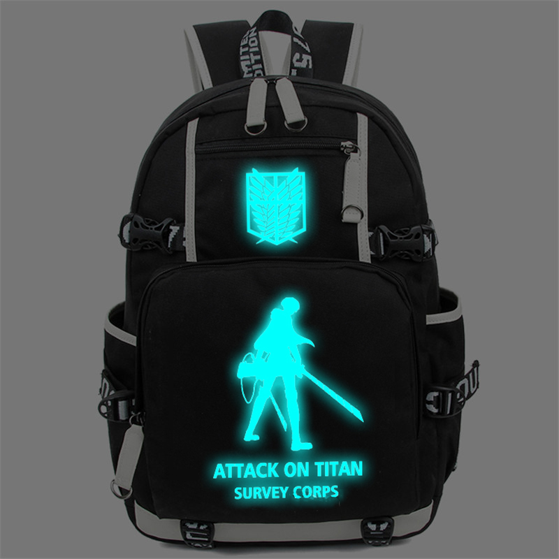 Free Shipping Attack on Titan Luminous Backpack Shingeki no Kyojin Cosplay Teenagers Students Schoolbag Daypack Large Travel Bag<br><br>Aliexpress