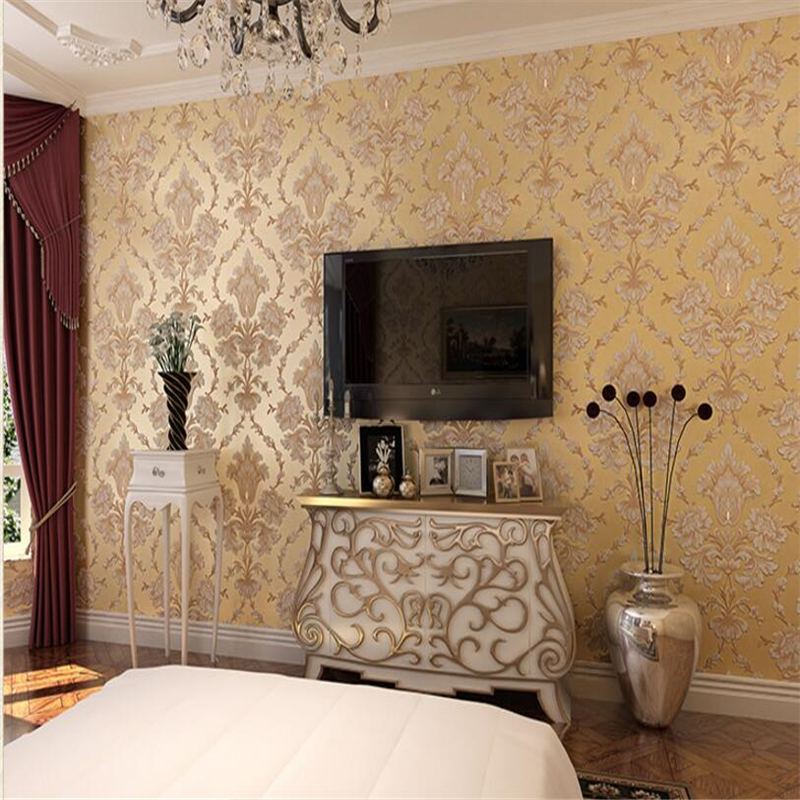 beibehang  European Wallpaper Non wovens Wall paper  Luxury Living Room Bedroom TV Background papel de parede  papier peint <br>