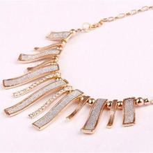 Fashion Women Crystal Chain Statement Choker Collar Bib Pendant Chunky Necklace CHic Jewelry For Party Work Silver Black Color