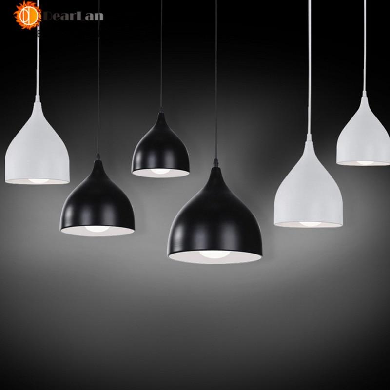 Modern Pendant Lighting White/ Black Kitchen Single-head 3 Head Pendant Lighting Aluminum Adjustable Cord Free Shipping(PD50)<br><br>Aliexpress