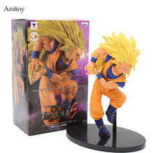 SCultures BIG Dragon Ball Z Super Saiyan 3 Son Sokou Goku PVC Action Figure Collectible Model Toy 18cm KT3210(China)