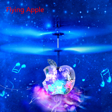 Auto Induction Mini Levitation Flying Apple Drones RC Quadcopter Helicopter with Music and Discus Lights Kids Children Toys Gift