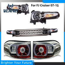 Newest LED DRL Projector Headlights s & Tail Lights & Grille s For Toyota FJ Cruiser 2007-2014 Dual Beam(China)