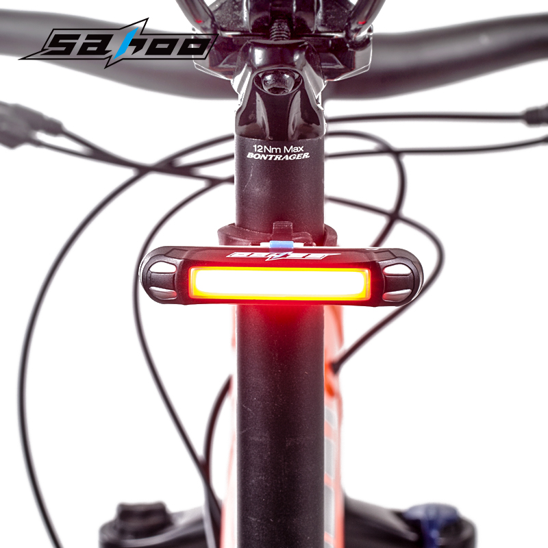 SAHOO waterproof USB charge cycling bicycle rear light bike accessories bycicle led lights 30 Lamp beads 1 year warranty  -  iBike Store store