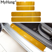 Door Sill Scuff For Fiat Abarth Spider Qubo Doblo Freemont Plate Welcome Pedal Threshold Protect reflector Stickers(China)