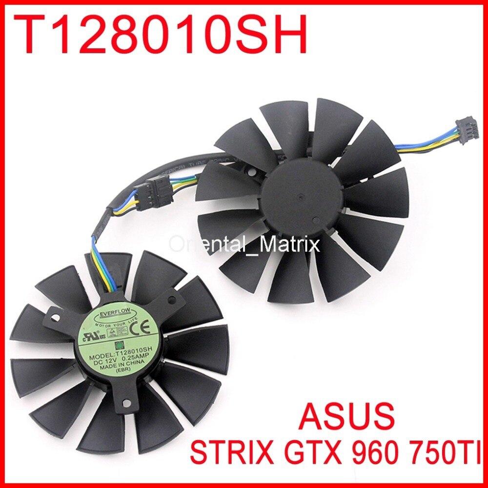 2pcs/lot T128010SH 12V 0.25A 85mm 39x39x39mm with 4 Pins For Asus STRIX GTX960 GTX750TI Graphics Card Cooler Fan<br>