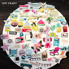 YPP CRAFT 65pc Travel Cardstock Die Cuts for Scrapbooking Happy Planner/Card Making/Journaling Project