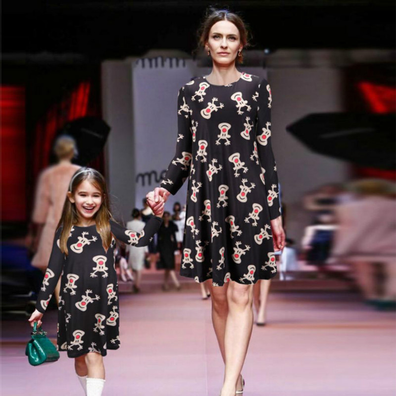 mother daughter dresses christmas clothes family clothing mom daughter  dress summer style girls women cotton dresses 30f8bb742265