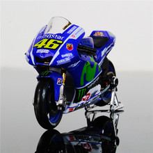 MAISTO YAMAHA 1:18 YZR M1 model MotoGP #46 diecast model motor Race Bikes Rossi Lorenzo Blue Color Kid Gift Collection Gifts(China)